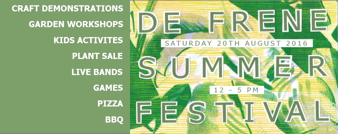 Summer Festival at De Frene, 20th August, 12:00 to 17:00